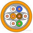 DRAKA UC900 Cat.7 S/FTP LSHF fóliaárnyékolt patch kábel, narancssárga