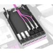 HUBER+SUHNER IANOS patch modul, szimpla, Base-1, 6xSC szimplex