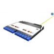 HUBER+SUHNER IANOS hegesztőmodul, Base-2, dupla, 12 x LC/APC duplex SM 9/125 OS2