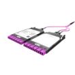 HUBER+SUHNER IANOS MTP-LC átalakító modul, dupla, Base-24, 12xLCD elöl, 1xMTP24 female hátul, MM OM4