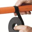 PANDUIT Tak-Tape tekercses tépőzáras kötegelő, 10.7m/19.1m, fekete, 10 darabos csomag