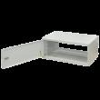"""ZPAS SJK 19"""" 10U magas 300 mm basic egyrészes fémajtós hálózati fali rack, világosszürke"""