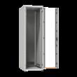 """ZPAS SZB IT 19"""" 33U magas 600x600 mm üvegajtós hálózati rack szekrény, világosszürke"""
