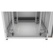 """ZPAS SZB IT 19"""" 45U magas 600x600 mm üvegajtós hálózati rack szekrény, világosszürke"""