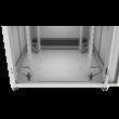 """ZPAS SZB IT 19"""" 24U magas 800x800 mm üvegajtós hálózati rack szekrény, világosszürke"""