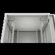 """ZPAS SZB IT 19"""" 24U magas 600x600 mm üvegajtós hálózati rack szekrény, világosszürke"""