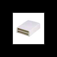 PANDUIT Mini-Com falon kívüli multimédia csatlakozó doboz, 12 Mini-Com betét fogadására, törtfehér