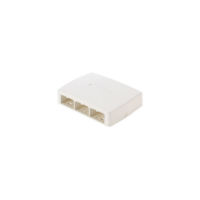 PANDUIT Mini-Com falon kívüli csatlakozó doboz, 6 Mini-Com betét fogadására, quick release, törtfehér