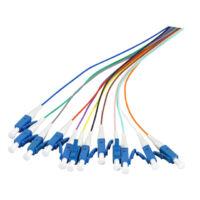 EFB 12 darabos színezett pigtail szett, SM 9/125 OS2, LC/PC csatlakozókkal, L=2 méter