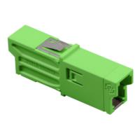 HUBER+SUHNER szimplex E2000/APC adapter, SM 9/125 OS2, zöld, bepattintós kivitel
