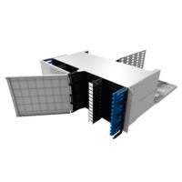 "HUBER+SUHNER IANOS Standard 4U 19"" rendező, 48 modul fogadására"