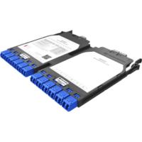 HUBER+SUHNER IANOS MTP-LC átalakító modul, dupla, Base-8, 12xLCD elöl, 3xMTP8 female hátul, SM OS2