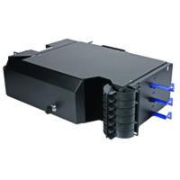 "HUBER+SUHNER 19"" Sub-rack, 6 darab LISA Side Access rendezőkazetta fogadására (max. 144 port), 3U magas"
