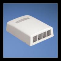 PANDUIT NetKey falon kívüli csatlakozó doboz, 4 NetKey betét fogadására, fehér