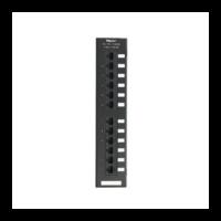 PANDUIT NetKey Category 5e punchdown patch panel, 12 portos, egyenes kialakítású