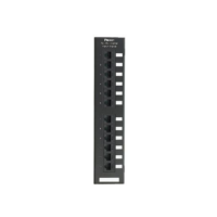 PANDUIT NetKey Category 5e punchdown patch panel, 12 portos, egyenes kialakítású