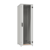 """ZPAS SZB IT 19"""" 33U magas 600x800 mm üvegajtós hálózati rack szekrény, világosszürke"""
