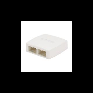 PANDUIT Mini-Com falon kívüli csatlakozó doboz, 4 Mini-Com betét fogadására, quick release, törtfehér
