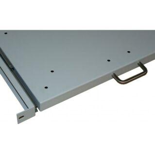 MD kihúzható rack tálca, 600 mm mély, RAL9005 fekete