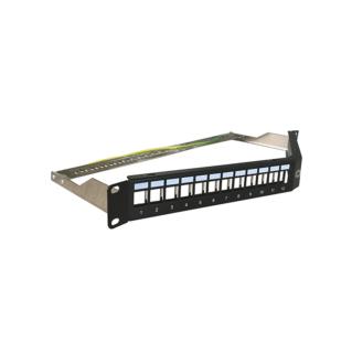 AFL HYPERSCALE 1U 24 portos döntött árnyékolt moduláris patch panel, üres