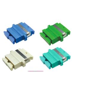 OPTRONICS optikai adapter, SC duplex MM OM1/OM2, bézs