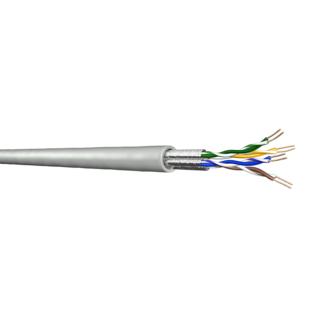 DRAKA UC400 Cat.6 U/FTP LSHF fóliaárnyékolt patch kábel, szürke