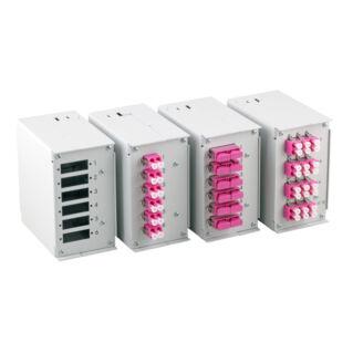 EFB DIN sínre szerelhető optikai doboz, RAL7035 világosszürke