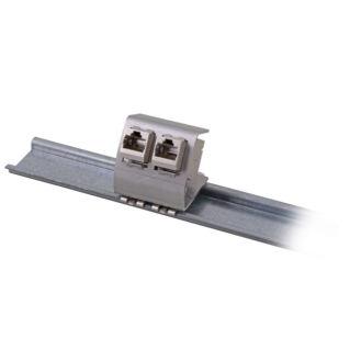 EFB DIN sínre szerelhető 1 portos keystone adapter