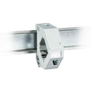 EFB DIN sínre szerelhető 1 portos sorolható keystone adapter