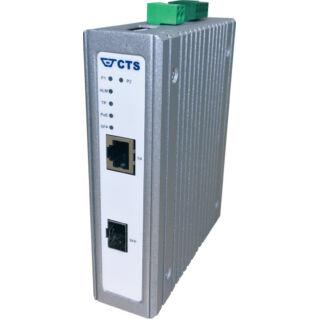 EFB DIN sínre szerelhető média konverter 1x 100/1000 SFP, 1x 100/1000T RJ45