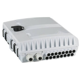 EFB optikai kötődoboz 16 szál végződtetéséhez, SC, E2000, LC dlx adapterhez, IP65