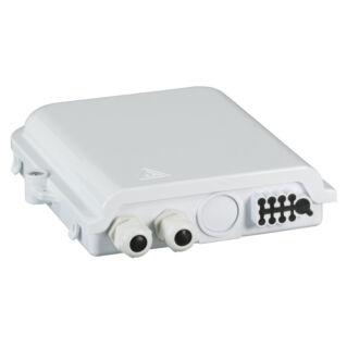 EFB optikai kötődoboz 8 szál végződtetéséhez, SC, E2000, LC dlx adapterhez, IP65