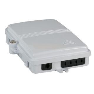 EFB optikai kötődoboz 4 szál végződtetéséhez, SC, E2000, LC dlx adapterhez, IP65