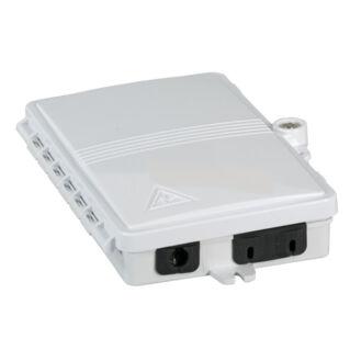 EFB optikai kötődoboz 2 szál végződtetéséhez, SC, E2000, LC dlx adapterhez, IP65