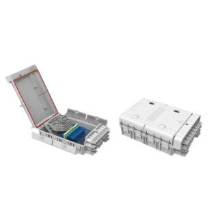 EFB optikai kötődoboz 24 szál végződtetéséhez, SC, E2000, LC dlx adapterhez, IP65