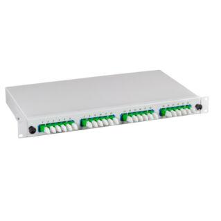 """EFB 1U magas kihúzható 19"""" előszerelt optikai rendezőtálca, 12 portos, 6xLC/PC duplex, döntött elrendezésű, SM 9/125 OS2"""