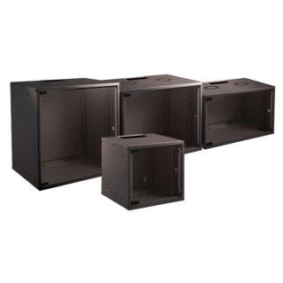 """EFB SOHO 19"""" 6U 535x450mm fali szekrény, lapraszerelt, RAL9005 fekete"""