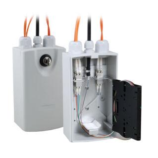 EFB kültéri Micro zárható műanyag hegesztődoboz adaptertartókkal, IP54, RAL7035 világosszürke