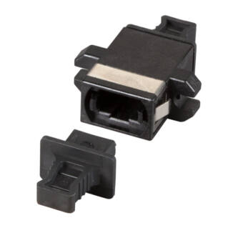 MPO/MTP adapter SM/MM, fekete