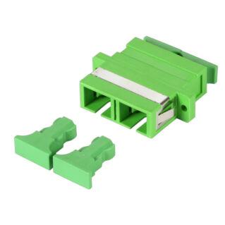 EFB SC duplex adapter műanyag házzal, SM 9/125 APC, zöld