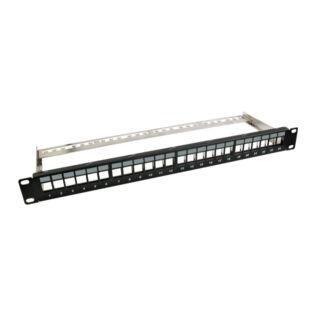 EFB 1U 24 portos Keystone moduláris patch panel, snap-in, üres