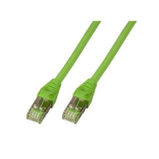 EFB Category 5e SF/UTP Superflex duplán árnyékolt ipari réz patch kábel, zöld, L=20 méter