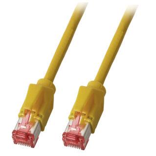 EFB Category 5e S/UTP Superflex olajálló ipari réz patch kábel, sárga, L=1 méter