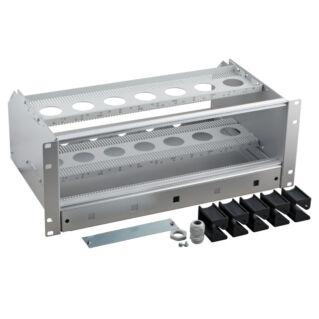 """EFB 19"""" Subrack, plug-in modulok fogadásához, kábeltartalék tárolóval, 4U magas, üres"""