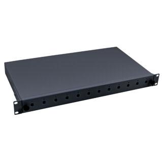 """EFB 19"""" optikai rendezőtálca, kihúzható, 12xST előlappal, 1U magas"""