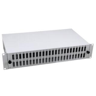 "EFB 19"" optikai rendezőtálca, fix, 48xSC duplex/LC quad előlappal, 2U magas"