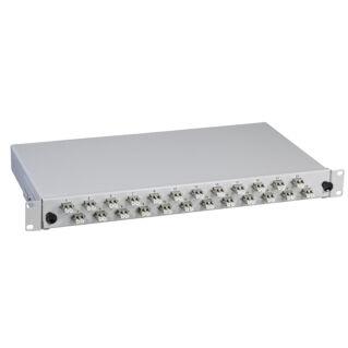 """EFB 1U magas fix 19"""" előszerelt optikai rendezőtálca, 48 portos, 24xLC duplex, eltolt elrendezésű, MM 50/125 OM2"""