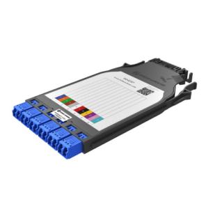 HUBER+SUHNER IANOS hegesztőmodul, Base-2, szimpla, 6 x LC/UPC duplex SM 9/125 OS2