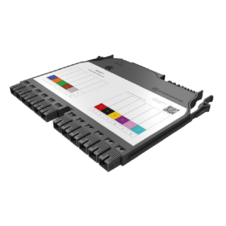 HUBER+SUHNER IANOS hegesztőmodul, Base-1 dupla, 12 x SC/UPC szimplex SM 9/125 OS2