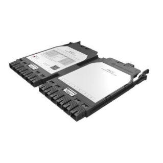 HUBER+SUHNER IANOS MTP-SC átalakító modul, dupla, Base-12, 12xSC elöl, 1xMTP12 male hátul, SM OS2 APC